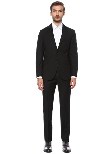 NetWork Erkek 1074706 Slim Fit Kelebek Yaka Yün Takım Siyah